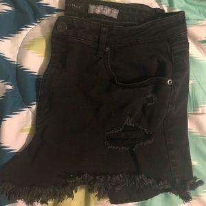Aero Black High-waisted Shorts